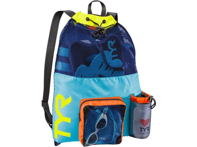 TYR Big Mesh Mummy Backpack Blue/Yellow
